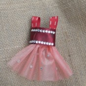 Ballet Dress Brooch - cute ballet dress pin