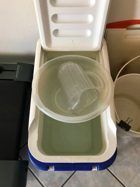Reuse Waste Water from Water Filter - water collected in cooler