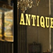 antique store window