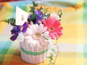 Floral Mother's Day favor.