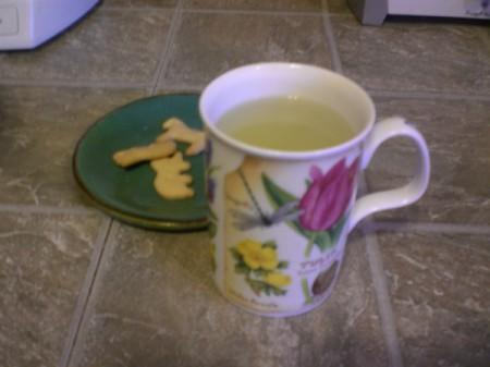 cup of spearmint tea