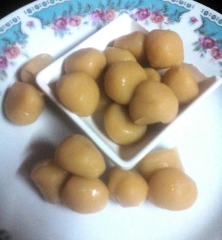 Milk Candy Balls (Yema) on plate