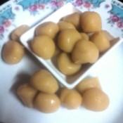 Milk Candy Balls (Yema) on plate