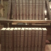 Value of Encyclopedia Britannica - volumes on shelves