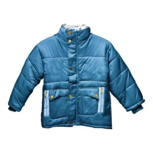 A blue winter jacket.