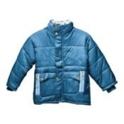 A blue winter jacket.