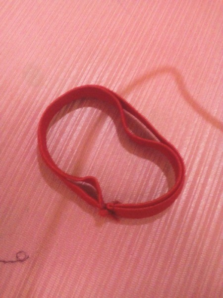 Ponytail Holder Made of Scrap Materials -  loop made