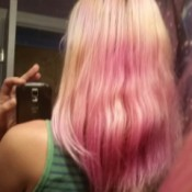 Getting Back to Natural Hair Color After Dyeing - blond hair with faded purple color