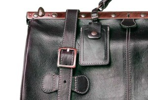 An old leather purse with usable hardware.
