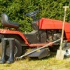 Photo of a riding mower.