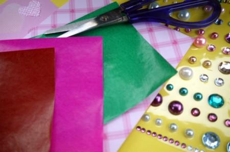 Paper Flower Decorations - supplies