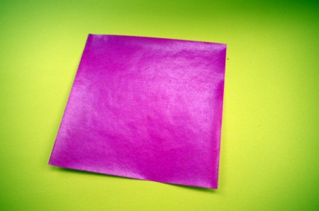 Paper Flower Decorations - 2 or 3 inch square of colored paper