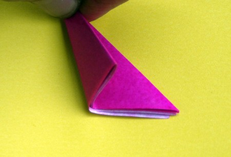 Paper Flower Decorations - make one more fold and it should look like this