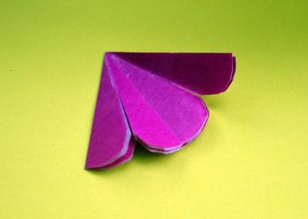 Paper Flower Decorations - start unfolding