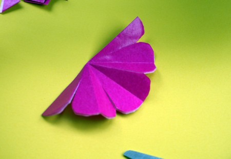 Paper Flower Decorations - partially unfolded