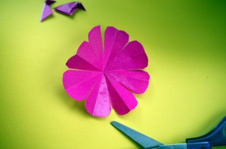 Paper Flower Decorations - completely open