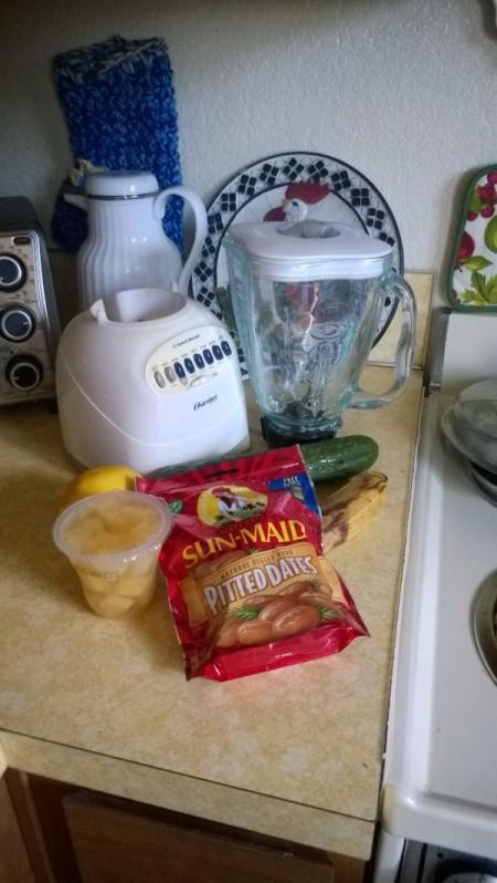 Detox Smoothie ingredients