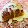 Lemon Glazed Mango Bundt cake on plate
