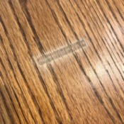 Double AA Battery Left a Burn Mark on Oak Table - mark on table