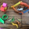 Foam Fun Activities - corral and other links, also toy horses and dinosaurs