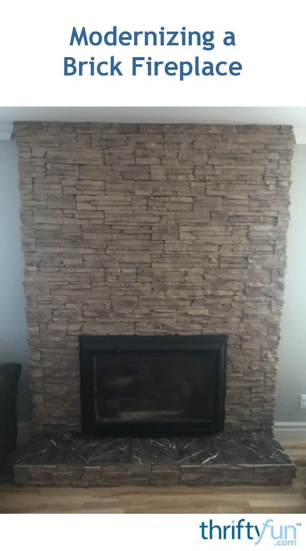 Modernizing A Brick Fireplace Thriftyfun