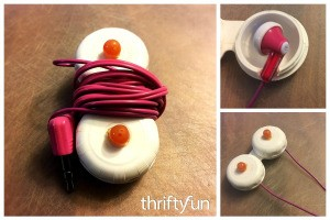 Using Contact Lens Case as Earbud Headphones Case