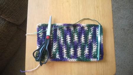 "Crocheted Seat Belt Adjuster - continue until 9"" long, do not break off"