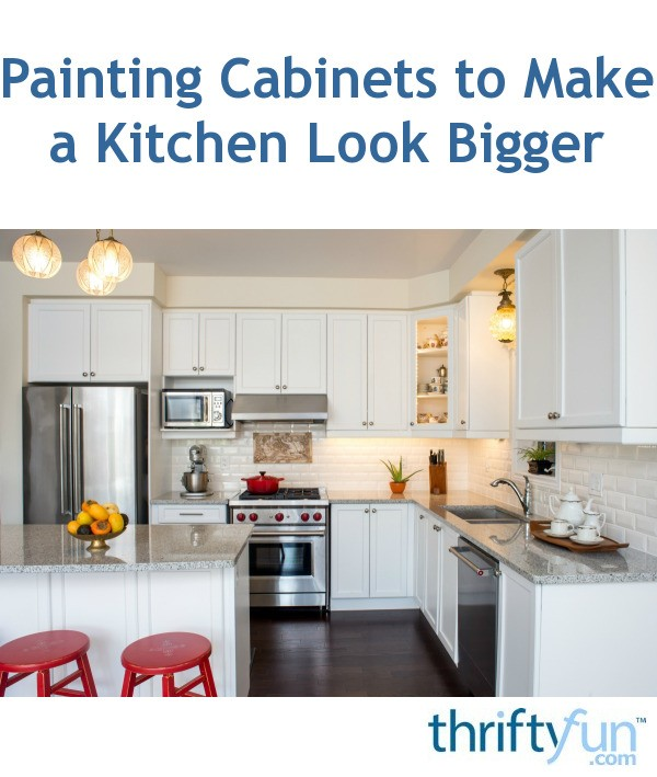 Make A Small Kitchen Look Bigger: Painting Cabinets To Make A Kitchen Look Bigger