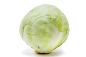 A large head of cabbage.