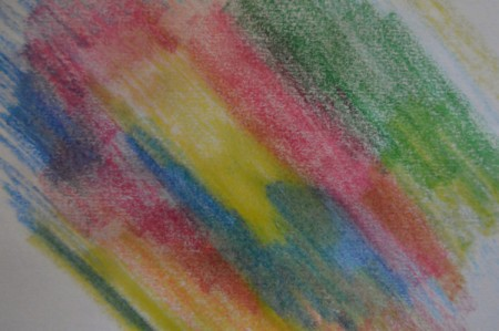 Colorful Summer Bleached Greeting Card - color with crayons on small sections of heated paper