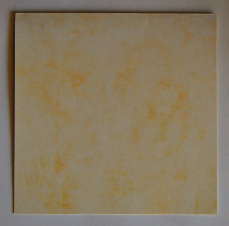Colorful Summer Bleached Greeting Card - score yellow cardstock to create the card