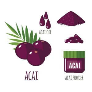 An illustration of Acai Berry Diet Supplements.