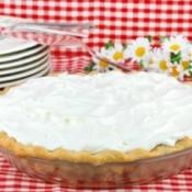 Delicious cream pie.