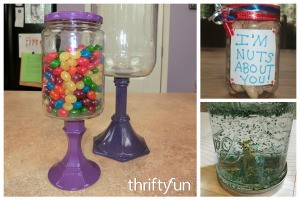 Crafts Using Recycled Glass Jars