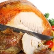 Carping a delicious roast turkey.