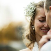 A photo of the bride and groom.