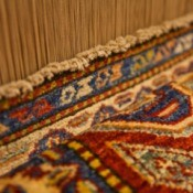 An attractive throw rug.