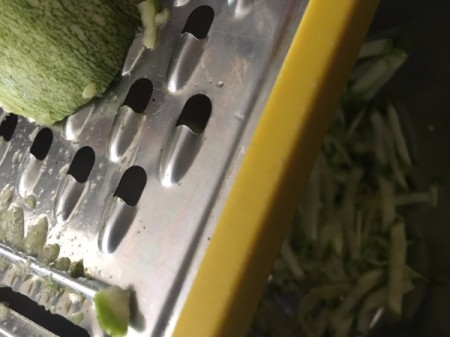 grating zucchini and onion