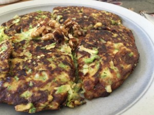 White Zucchini Frittata on plate