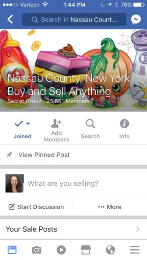 A Facebook group for Nassau County, NY.