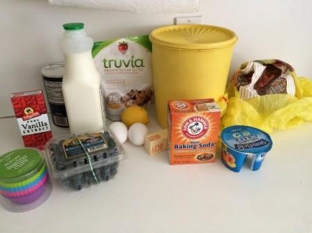 Pressure Cooker Lemon Blueberry Muffins ingredients