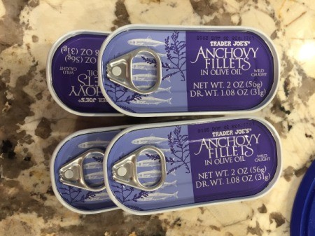 Anchovy cans