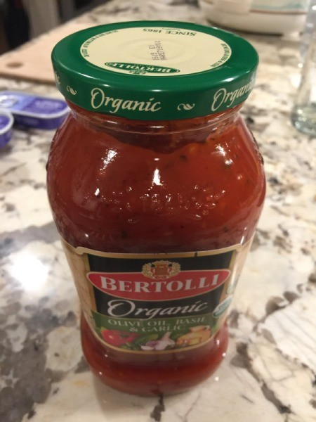 Spaghetti sauce in jar
