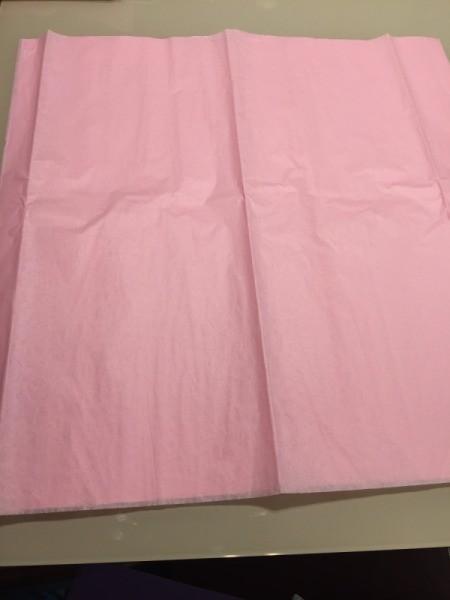 DIY Tissue Paper Pom Pom Decoration - 6 sheets of tissue paper flattened