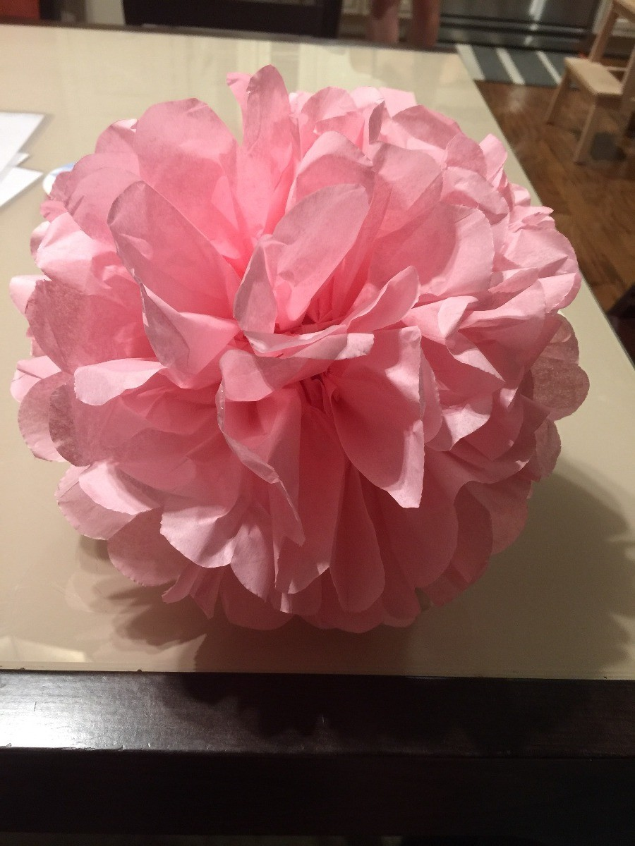 How to Make Tissue Paper Pom Poms | ThriftyFun