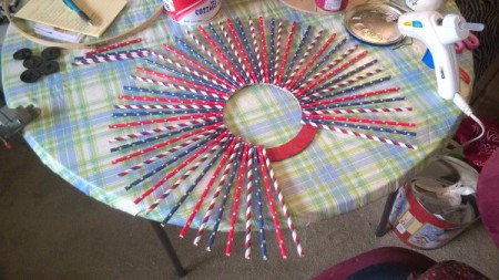 Patriotic Straw Wall Art - continue around