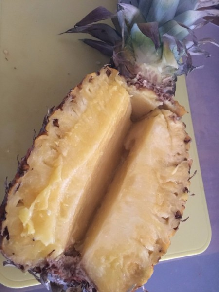 removed Pineapple core