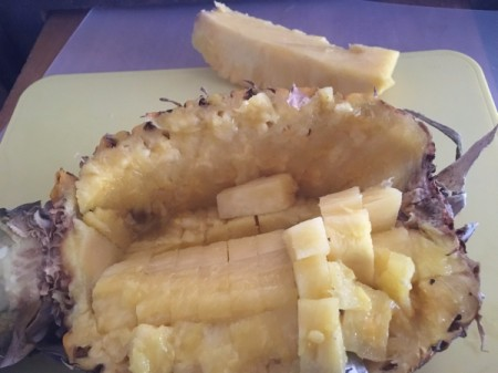 cut Pineapple in half