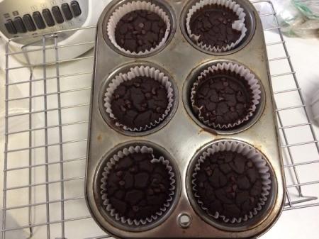 baked Chocolate Black Bean Blender Muffins