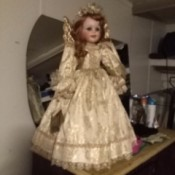 Value of Seymour Mann Porcelain Doll - angel doll